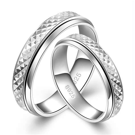 Lettering Ring s925 silver rotatable simple lettering rings