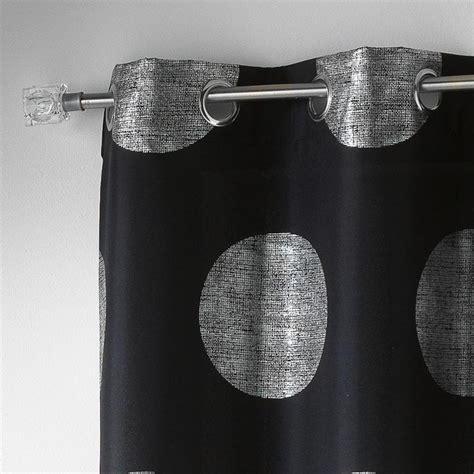 Rideaux Noir Et Argent by Rideau 140x240cm Quot Argent Platine Quot Noir