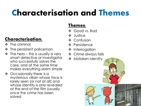 common themes used in film crime mystery genre research