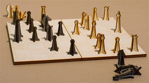 designer chess sets you ll always have room in your bag for this laser cut