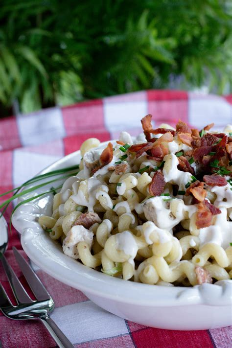 pasta salad with bacon chicken ranch pasta salad with bacon what the forks for