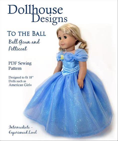 dollhouse designs   ball gown petticoat doll