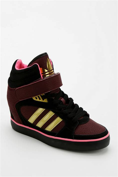 Khidima Light Brown Sneaker Wedges outfitters adidas amberlight wedge high top