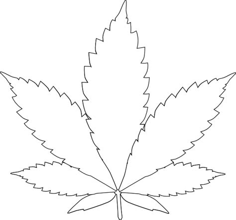 Pot Leaf Template leaf 2 clip at clker vector clip