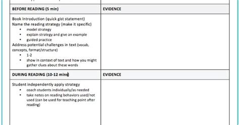 guided reading observation template a guided reading observation template teaching feedly