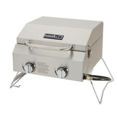 nexgrill 2 burner portable propane gas table top grill in