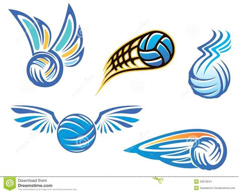 volleyball symbols and emblems stock image image 32979541