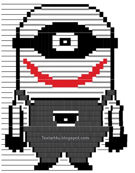 tattoo emoji copy and paste copy paste minion joker text art for facebook cool ascii