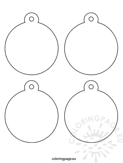 ornament templates tree ornaments coloring page