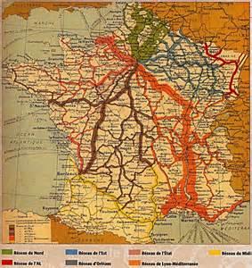 la carte du r 233 seau ferroviaire en 1934 les anciens trains