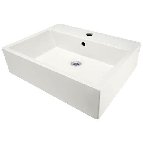 polaris sinks porcelain vessel sink in white p2052v w