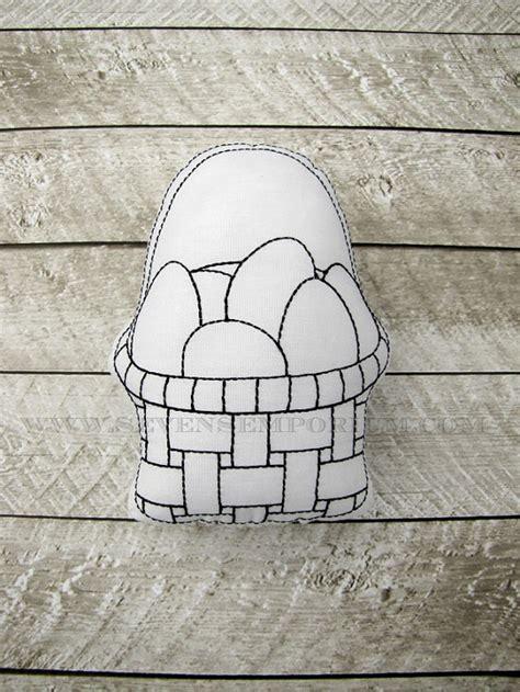 doodle basket easter egg basket in the hoop doodle it machine embroidery