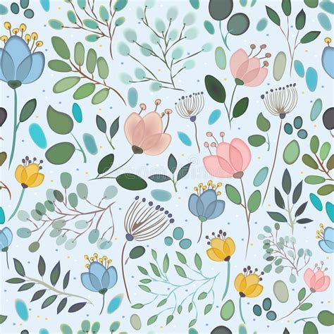 vector watercolor seamless pattern patterns creative vector seamless pattern watercolor flowers stock vector