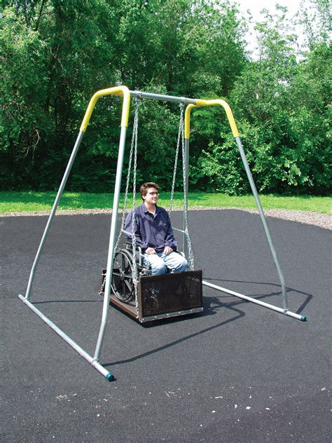 handicap swings ada wheelchair swing pro playgrounds the play