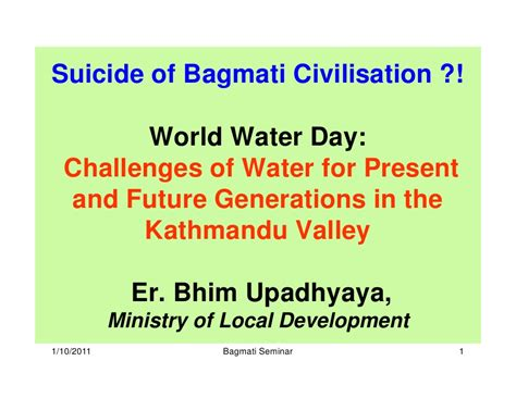 Our Future Generation Essay by Challanges Of Water For Present And Future Generations Of Kathmandu V