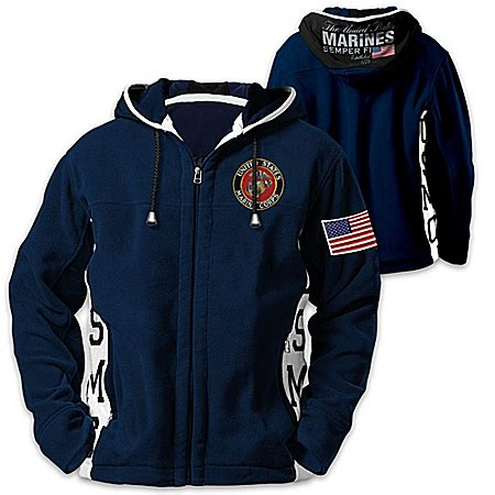Hoodie Initial D Navy navy uniforms bradford exchange navy hooded fleece