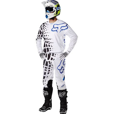 white motocross gear fox racing 2017 mx 360 grav white jersey vented