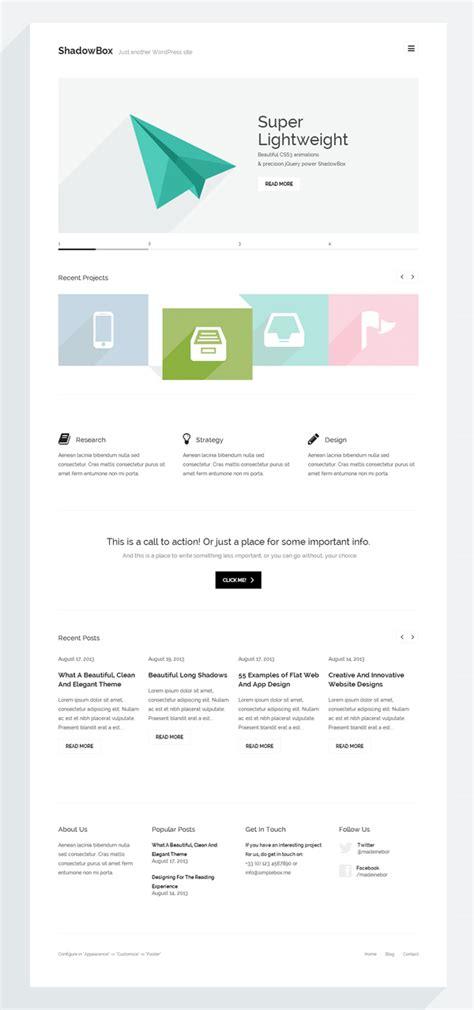 wordpress themes minimal flat and responsive design