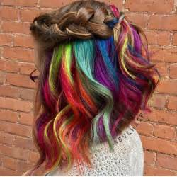 color underneath hair 28 rainbow hair color ideas for 2017