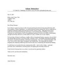 Cover Letter For An Internship by Internship Cover Letter Resume Cover Letter