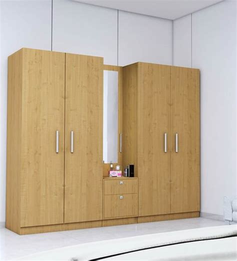 Five Door Wardrobe by Wardrobe Stores Near Me 5 Doors Wardrobe In Maple Finish Rawat Furniture