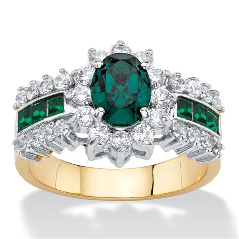 Green Emerald Cz Ring 135 palmbeach jewelry 82 tcw oval cut emerald green