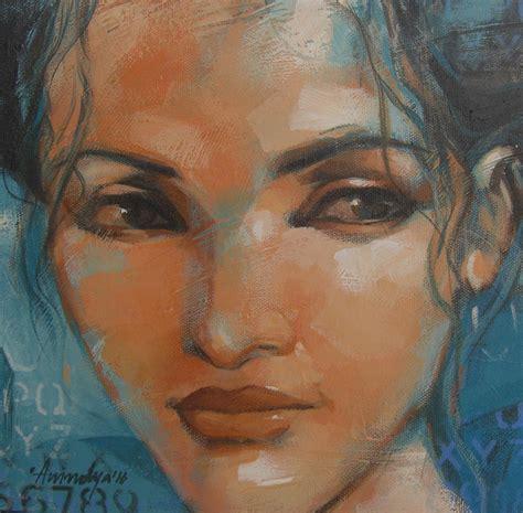 Anindya Set expression series by artist anindya mukherjee