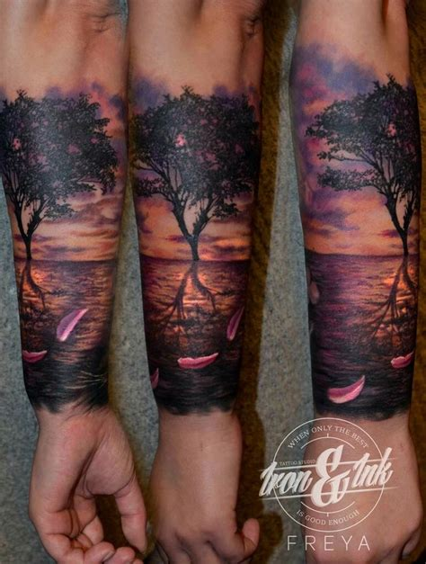 sunset tattoo sunset realism my sunset