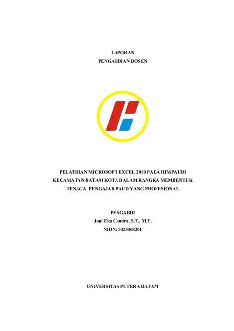 format laporan pengabdian masyarakat laporan pengabdian kepada masyarakat 2014