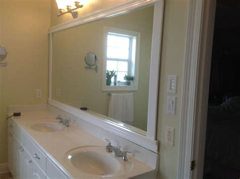 how to take off a bathroom mirror framed bathroom mirror the only advice hang trim off the