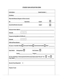 student application template 41 sle student application forms