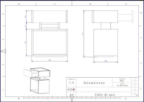 dimension table de nuit une table de nuit hexa 232 dres