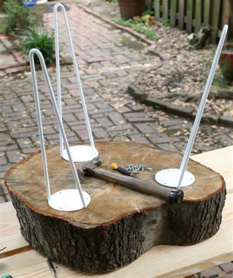 how to a table from a tree slice diy rustic end table from tree stump slice shelterness