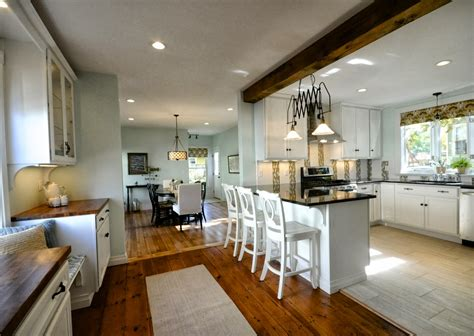 open kitchen to dining room remodelaholic creating an open kitchen and dining room