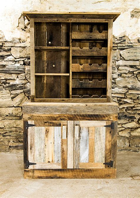 Rustic Liquor Cabinet by Saloon Style Rustic Wine Rack And Liquor Cabinet