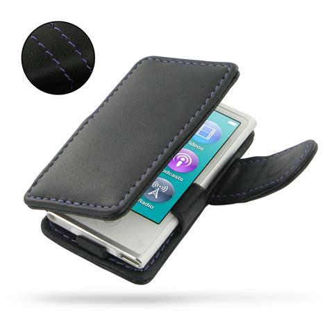 Ipod Nano 7th ipod nano 8th nano 7th leather flip cover purple stitch