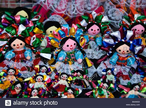 Mexican Handcraft - mexican handicrafts dolls stock photo royalty free image