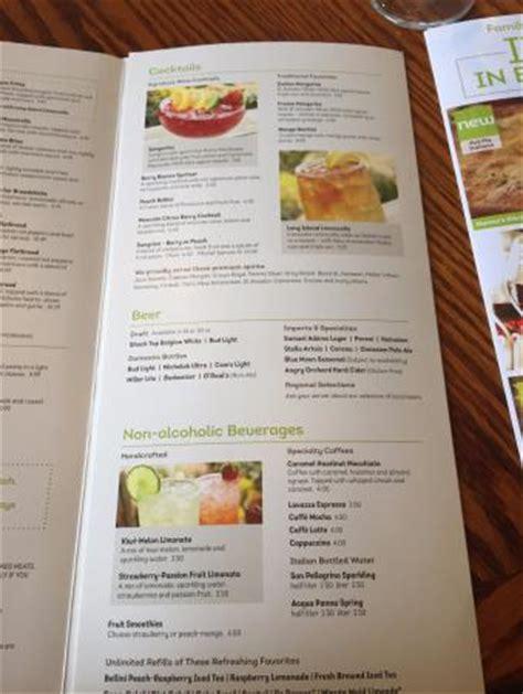 Menu Picture Of Olive Garden Amherst Tripadvisor Olive Garden Rock Menu