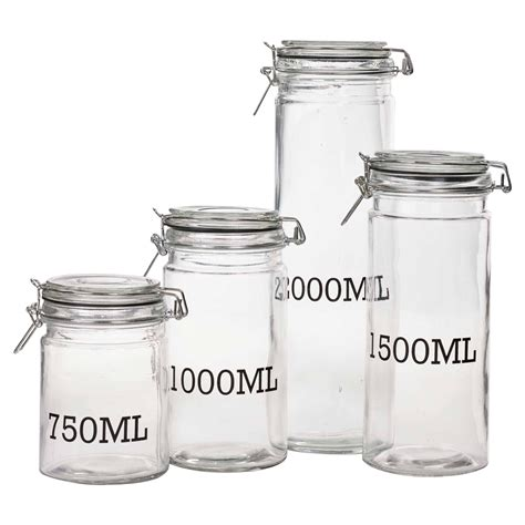 clear glas kanister für küche large glass storage jar with air tight sealed metal cl