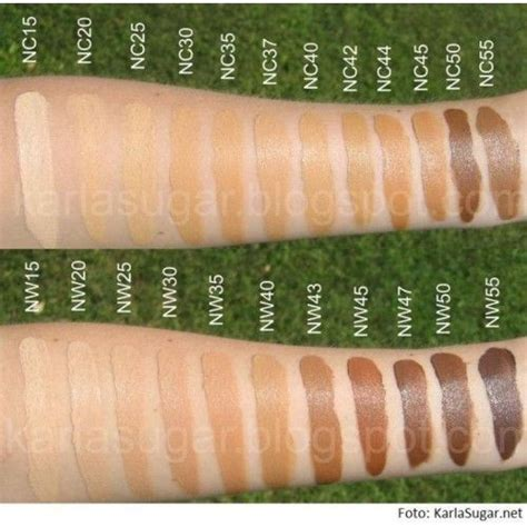mac foundation color chart image detail for mac studio fix fluid spf 15 makeup