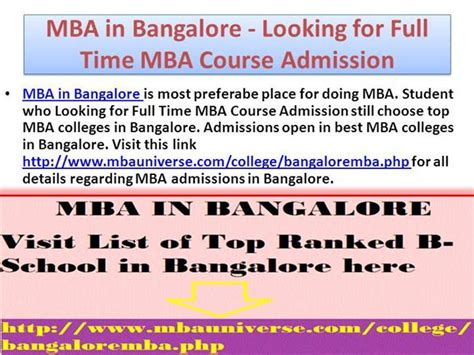 Donate Mba Books In Bangalore by Mba In Bangalore Looking For Time Mba Course