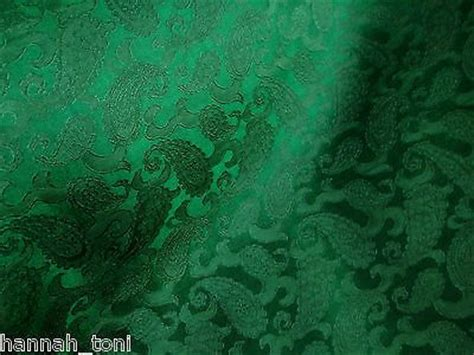 green jacquard wallpaper emerald green paisley floral silk satin jacquard fabric