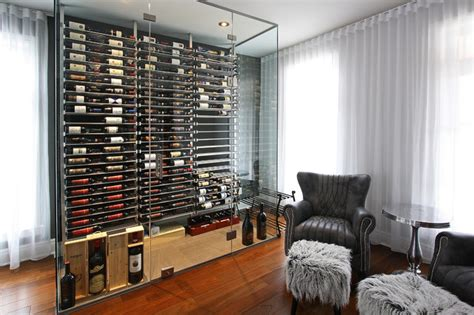 living room wine bar glass wine cellar in the living room 2 contemporary wine cellar miami by millesime