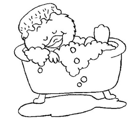 bubbles bath printable coloring pages bubbles best free