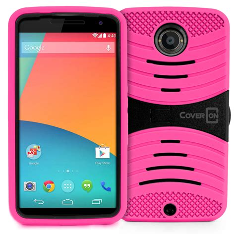 Nexus 6 Shockproof Future Hybrid Soft Casing Cover for motorola nexus 6 dual layer soft hybrid stand phone cover ebay