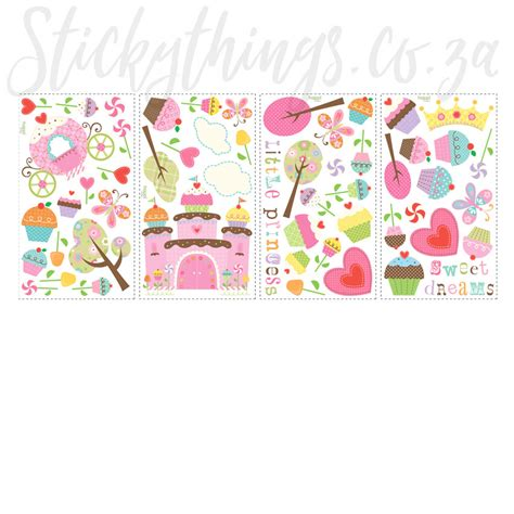 cupcake wall stickers princess cupcake wall stickers happi cupcake land wall decals