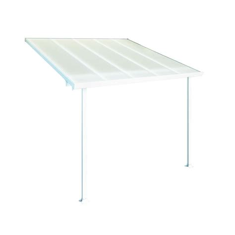 Palram Awning Palram Feria 10 Ft X 10 Ft White Patio Cover Awning