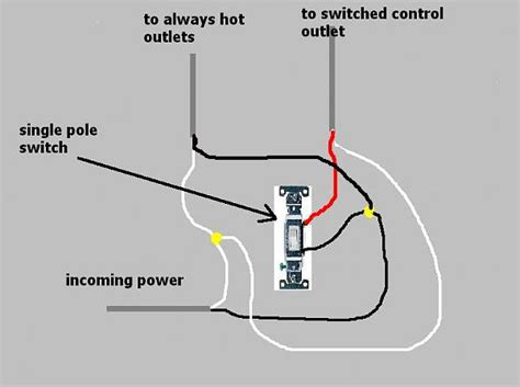 single pole switch and outlet wiring diagram pole free