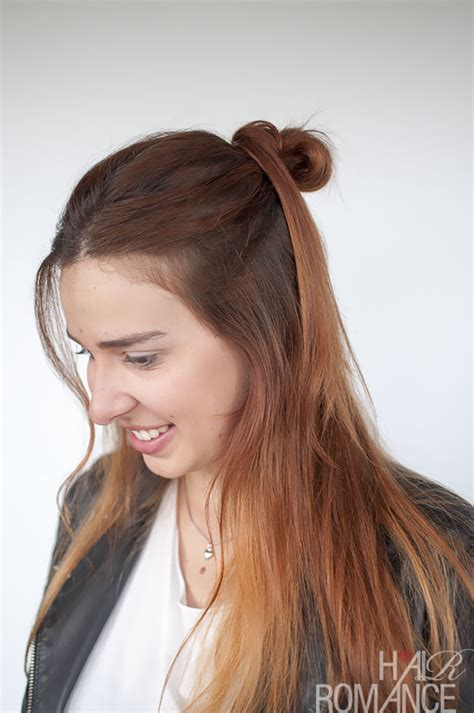 knotted half up half down hairstyles 90s inspired hairstyle tutorial the half up hair knot