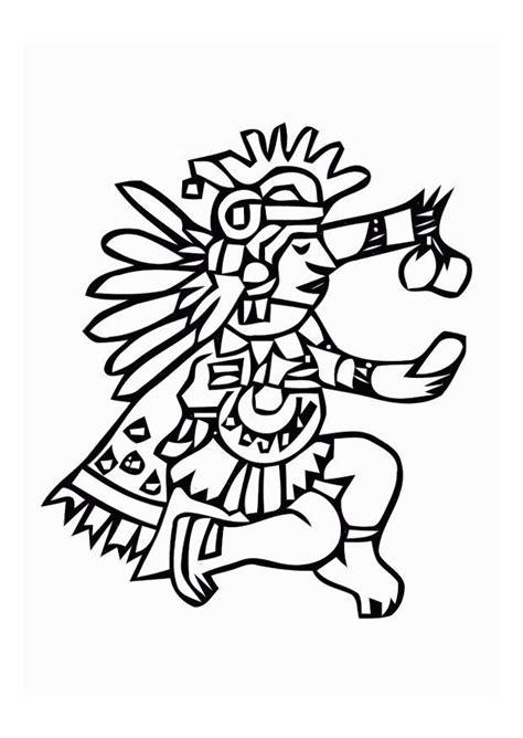 imagenes mayas para imprimir dibujo para colorear aztecas img 11009